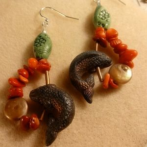 ARTISAN FISH EARRINGS